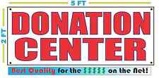 DONATION CENTER Full Color Banner Sign NEW For Thrift Shop Store Church