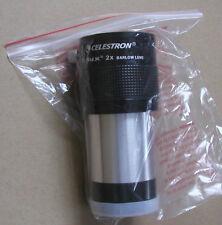 NEW Celestron Elux 2x  telescope eyepiece barlow lens 2 inch