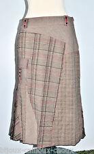 très belle JUPE sous genou de la marque JACQUELINE RIU tartan marron rouge T 38
