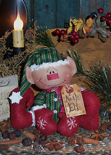 Primitive Raggedy Noah Elf Christmas Doll Pattern #187