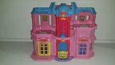 Fisher Price 2001 Sweet Streets Pink Dollhouse Hotel Boutique Elevator Pool
