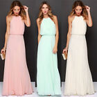 Women Sexy Gown Long Chiffon Night Formal Party Cocktail Dress Bridesmaid Prom