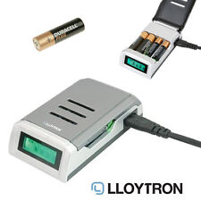 LLOYTRON Battery Charger ALKALINE Intelligent LCD Battery Charger for AA/AAANiMH