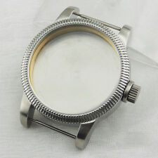 46mm Stainless Steel Watch Case Fit for eta 6497 6498 Seagull st36 movement P516