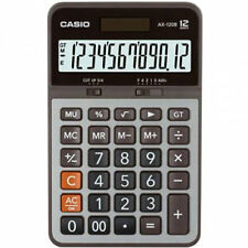 AUSSIE SELER CASIO DESK CALCULATOR 12 DIGIT AX120B AX120 AX-120B LARGE DISPLAY