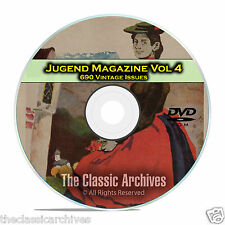 Jugend, Vintage German Art Nouveau Magazine Jugendstil, 690 Issues Vol 4 DVD C27