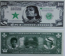"Twin Pack-  (2) Micheal Jackson ""Million Dollar"" Commemorative  Novelty Bills"