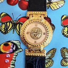 vintage GIANNI VERSACE SIGNATURE Medusa Gold Plated G20 Women's Watch 93 w/ box