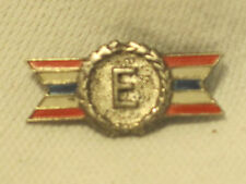 vintage ARMY NAVY Production Award Sterling Silver E pin red white blue