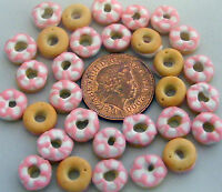 1;12 Scale 8 Iced Donuts Dolls House Miniatures Bakery Cakes Food R10