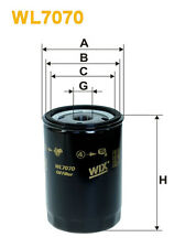 WIX WL7070 Car Oil Filter - Spin-On Replaces W7195 PH2870A AW29