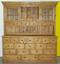 VERY LARGE SOLID PINE 28 DRAWER ANTIQUE MERCHANTS WELSH DRESSER BANK OF DRAWERS