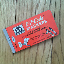 Vintage E-Z Code Markers Wire WM-0-45 T & B Engineered Thomas & Betts