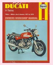 259 Haynes Manual for Ducati 750 860 & 900 GT SS GT GTS  models 1971 to 1979