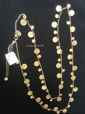 "Lia Sophia ""Panorama/Reflection"" Matte Gold Tone Necklace 34""-37"""