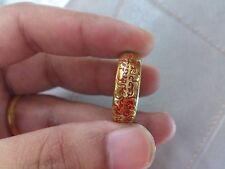 Lord Of The Rings By Phra Arjarn O Amulet Rich Lucky Love Gold Plate Magic Thai