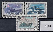 Urss 1984 serie spedizione artica della nave 5092-94   MNH