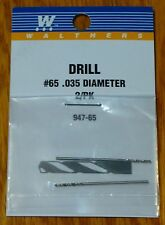 Walthers #947-65 Drill Bit #65 (2 Pack) .035 Diameter