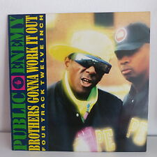 """MAXI 12"""" PUBLIC ENEMY Brothers gonna work it out 656018 5"""