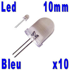 10x LED 10mm Bleues 25000mcd