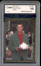 2001 Tiger Woods Sports Card Investor SCI Gold Masters rookie gem mint 10