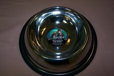 Paws Premium Stainless Steel Pet Dish No Tip 32 oz NEW Dishwasher Safe Embossed!