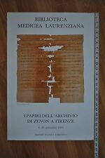 1993 Laurentian Medici Library Zenon Papyrus Gallery Poster Florence Italy