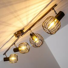 Vintage ceiling spot light 4 lights bar spots flush lamp brown classic 142362