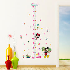 Minnie Mickey Mouse Height Chart Wall Sticker Decals Kids Room Nursery Decors