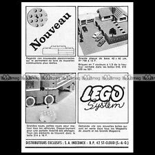 LEGO SYSTEM Original Vintage Advertising (1965) - Pub / Publicité / Ad #D113