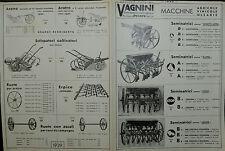 Pubblicità WERBUNG - PESARO 1938  VAGNINI Stab. meccanico MACCHINE AGRICOLE