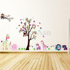Animal Arbre Fleur Autocollant Mural Sticker Decoration Chambre Mur DIY Enfant