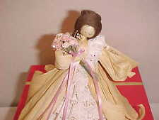 NAN'S CORN HUSK DOLL # 35 HEARTS AND FLOWERS W/ ORIGINAL TAG (Made in USA! )