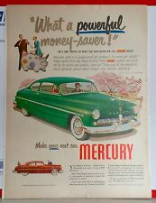 1949 magazine ad for Mercury - green Mercury in Spring, A Greyhound for Pickup!