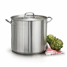 Tramontina Pro Line 24 Qt Stockpot w/ Lid Stainless Steel Tri-Ply Base