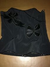 Simon Ellis Basque Top Size 12 Black Velour & Sparkly Beaded Decoration  R7967