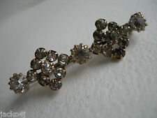 NICE VINTAGE / ANTIQUE RHINESTONE SET PIN BAR BROOCH