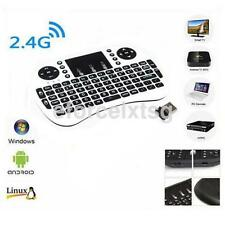 White 2.4G Wireless Keyboard Air Mouse Remote Control Touchpad For PC TV Box UK