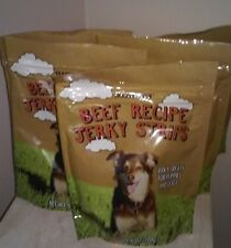 5 Packs Trader Joe's Beef Jerky Strips Treats Snacks Puppies And Dogs  6 oz.ea
