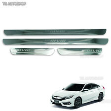 4dr Stainless Scuff Plate Sill Guards Fit Honda Civic Sedan FB6 2016 2017