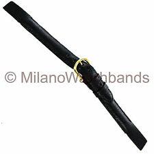 12mm deBeer Black Genuine Hand Made Pig Leather Ladies Open Ended Watch Band