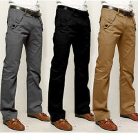 Business Herren Slim Fit Chinohose Freizeit Chino Hose Jeans Trousers Workwear