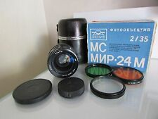 NEW ~ PERFECT ! IN BOX ! SOVIET RUSSIAN MC MIR 24M 2/35mm M42 lens # 852831 !