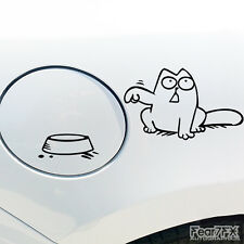 SIMONS CAT FUNNY CAR VAN BUMPER WINDOWS LORRY JDM VINYL DECAL STICKER EURO VAG