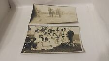 2 OLD POSTCARDS VINTAGE RARE PHOTOS LOT BLACK AND WHITE