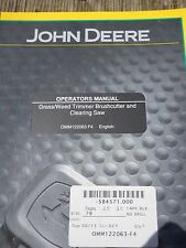 John Deere Operators Manual for Grass/Weed Trimmer Brushcutter and Clearing Saw