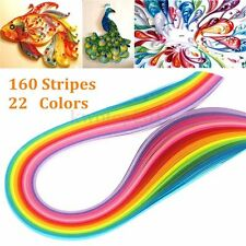 160 Strips 22 Colors Quilling Paper 3mm*390mm Mixed Origami Papercraft DIY Craft
