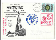 GREAT BRITAIN 1977 LEIGHTON BUZZARD HOT AIR BALLOON FLOWN COVER LONDON PRIDE 2