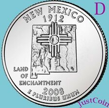 2008-D NEW MEXICO (NM) STATE QUARTER UNCIRCULATED FROM U.S. MINT * STATE QUARTER