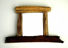 Petits grains de bois flotté miroir approx 14cm x 23cm